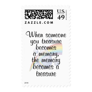 When someone you treasure becomes a memory... stamp