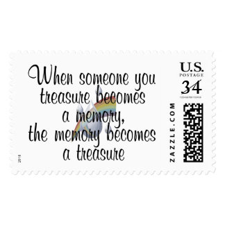 When someone you treasure becomes a memory... postage