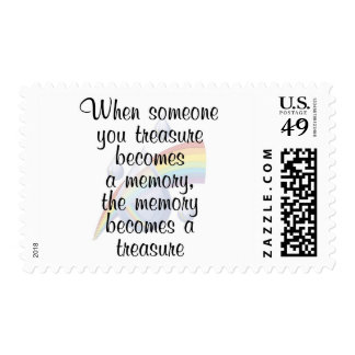When someone you treasure becomes a memory... postage stamps