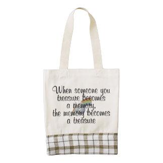 When someone you treasure becomes a memory... zazzle HEART tote bag