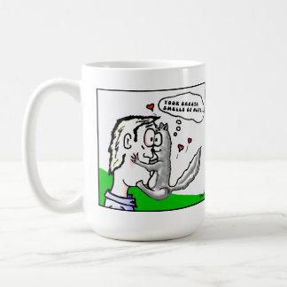 When Squirrels Fall In Love Cartoon. Classic White Coffee Mug
