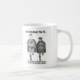 When Superheroes Turn 40 Classic Mug