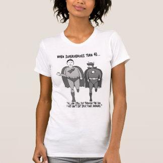 When Superheroes Turn 40 Ladies Petite T-Shirt
