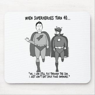 When Superheroes Turn 40 Mousepad
