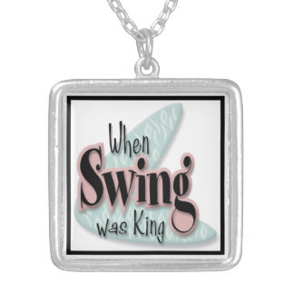 When Swing Was King Silver Plated Necklace