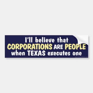 When Texas Executes One Bumper Sticker
