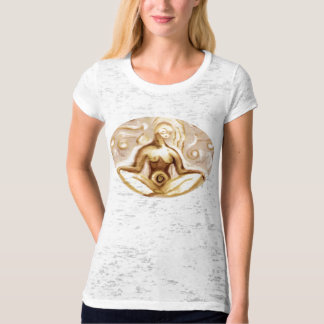 When the breath wanders the mind also is unsteady. tee shirt