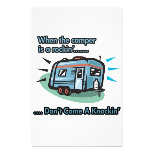 When the camper is a rockin' customized stationery