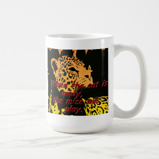 When the cat away, the mice will play coffee mugs