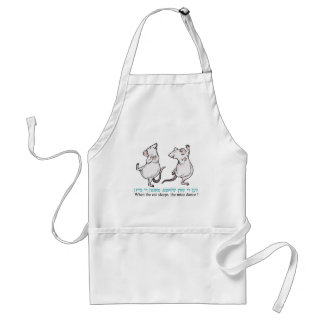 """"""" When the cat sleeps, the mice dance"""" Apron"""