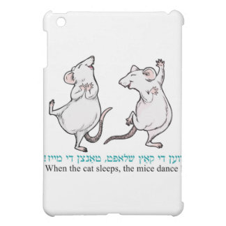 """ When the cat sleeps, the mice dance"" Cover For The iPad Mini"