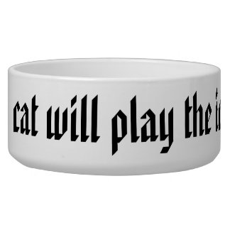 When the cat will play the mice gow away pet food bowls