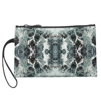WHEN THE CENTER CANNOT HOLD (an abstract) ~ Suede Wristlet Wallet