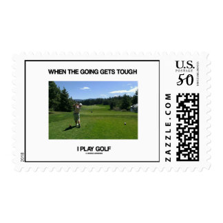 When The Going Gets Tough I Play Golf (Golfer) Postage
