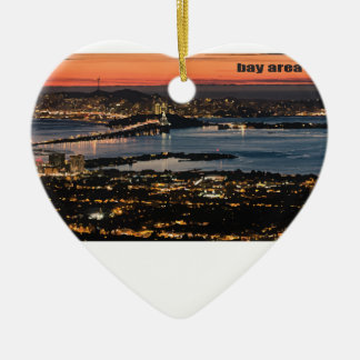 when the lights go down Double-Sided heart ceramic christmas ornament