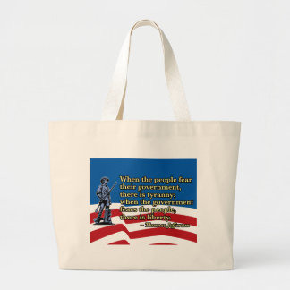 When the people fear their government, Thomas Jeff Bag
