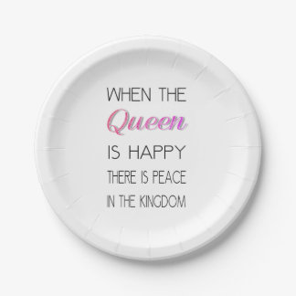 When The Queen Is Happy - Funny Quote Paper Plate  sc 1 st  Zazzle & Funny Queen Quotes Home Decor u0026 Pets Products | Zazzle