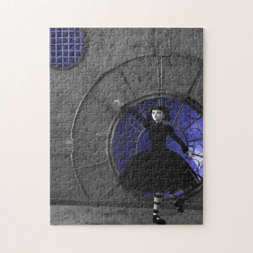 When The Rain Comes Gothic Art Puzzle