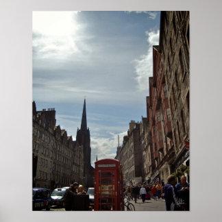 When The Sun Shines In Edinburgh [Art Print] Poster