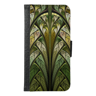 When the West Wind Blows Green Abstract Wallet Phone Case For Samsung Galaxy S6