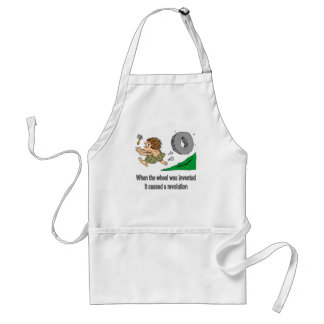 When the wheel was invented adult apron