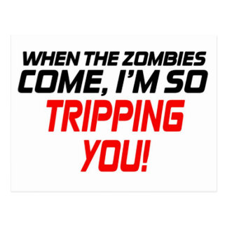 When the zombies come - Funny Design Postcard
