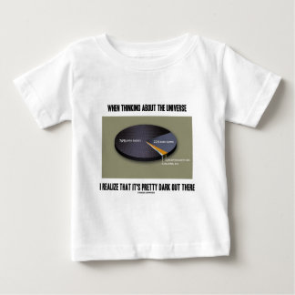 When Thinking Universe Realize It's Dark Out There Baby T-Shirt