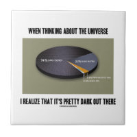 When Thinking Universe Realize It's Dark Out There Small Square Tile