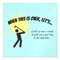 WHEN THIS IS OVER LET'S Save Date Golf Magnetic Invitation