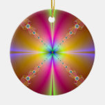 When Time Began Double-Sided Ceramic Round Christmas Ornament