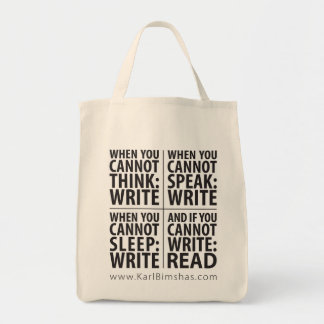 When to Write Grocery Tote