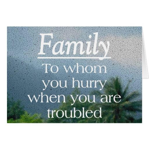 When Troubled Family Card