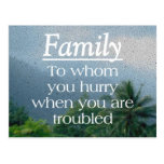 When Troubled Family Postcard