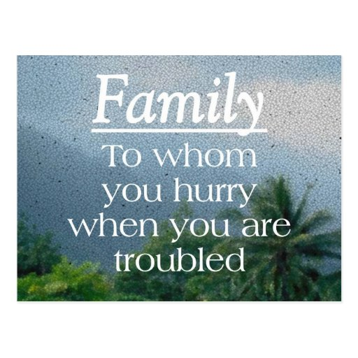 When Troubled Family Postcards