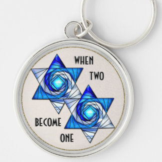 When Two Become One - Interlocking Stars Keychain