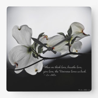 When we think love, breathe love... square wall clock