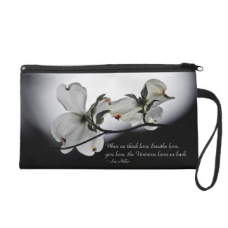When we think love, breathe love... Wristlet Purse