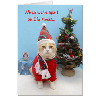 When we're apart on Christmas... Greeting Card