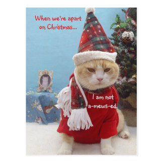 When we're apart on Christmas...,... Postcard