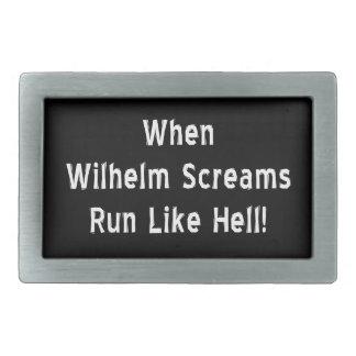 When Wilhelm Screams Rectangular Belt Buckle
