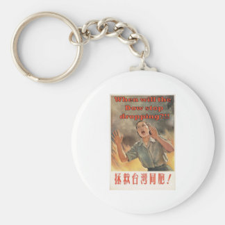 When will the dow stop dropping?!! keychain