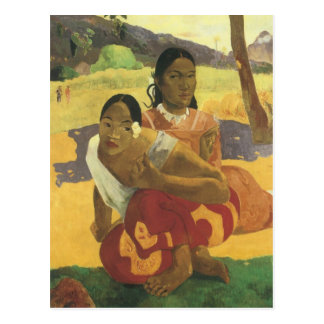 When Will You Marry? by Gauguin, Vintage Fine Art Postcards