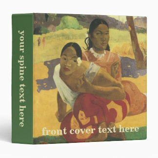 When Will You Marry? by Paul Gauguin, Vintage Art 3 Ring Binder