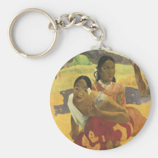 When Will You Marry? by Paul Gauguin, Vintage Art Keychain