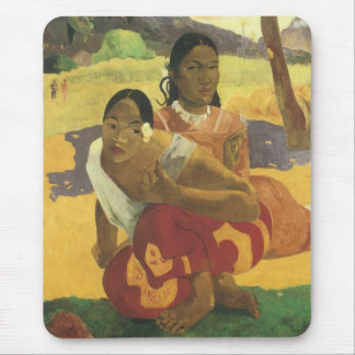 When Will You Marry? by Paul Gauguin, Vintage Art Mouse Pad