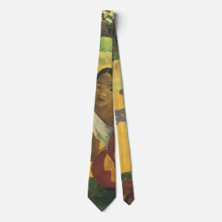 When Will You Marry? by Paul Gauguin, Vintage Art Neck Tie