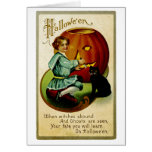 When Witches Abound at Halloween Greeting Card