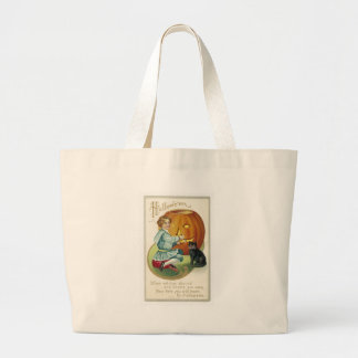 When Witches Abound at Halloween Jumbo Tote Bag