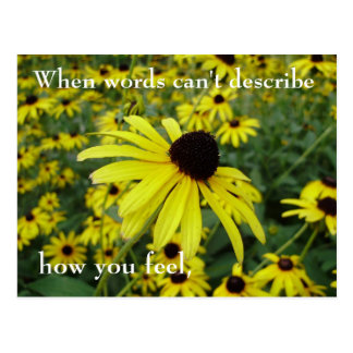 When words can't describe, how you feel... postcard