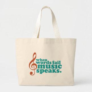 When Words Fail Music Speaks Canvas Bag